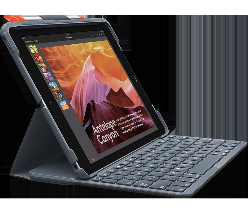 Slim Folio For Ipad 5th And 6th Generation Ipad Keyboard Keyboard Case Logitech