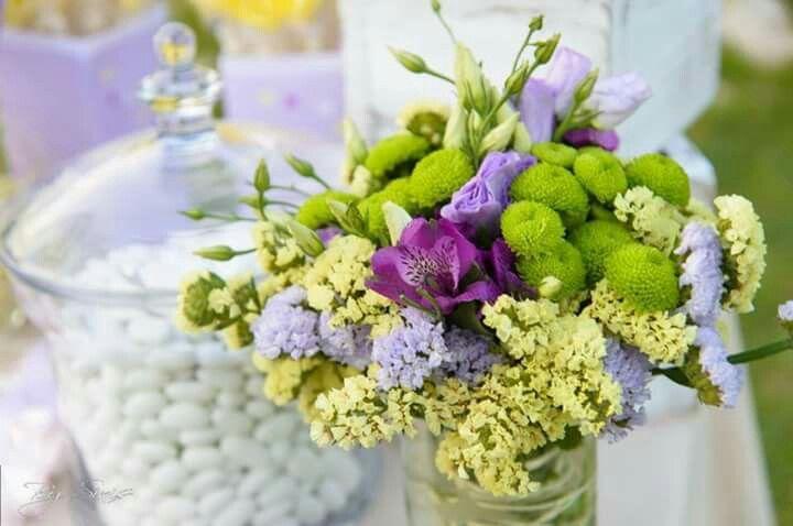 Wedding decoration  Purple Yellow Green
