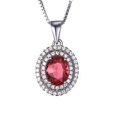 Unique Jewelry - Elegant Pink Sapphire Pendant Necklace Chain Solid 925 Sterling Silver Women Hot