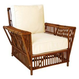Reed Rattan Chair With Cup Holder And Magazine Holder Rattan Outdoor Furniture Furniture Rattan Chair