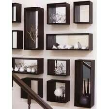 Rear mirrored box shelves