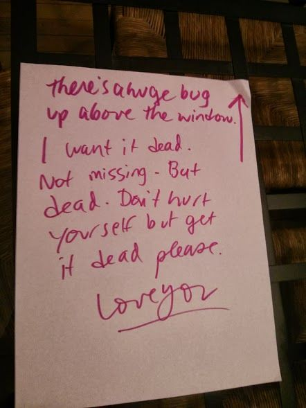 My girlfriend left me this note | Me as a girlfriend, I