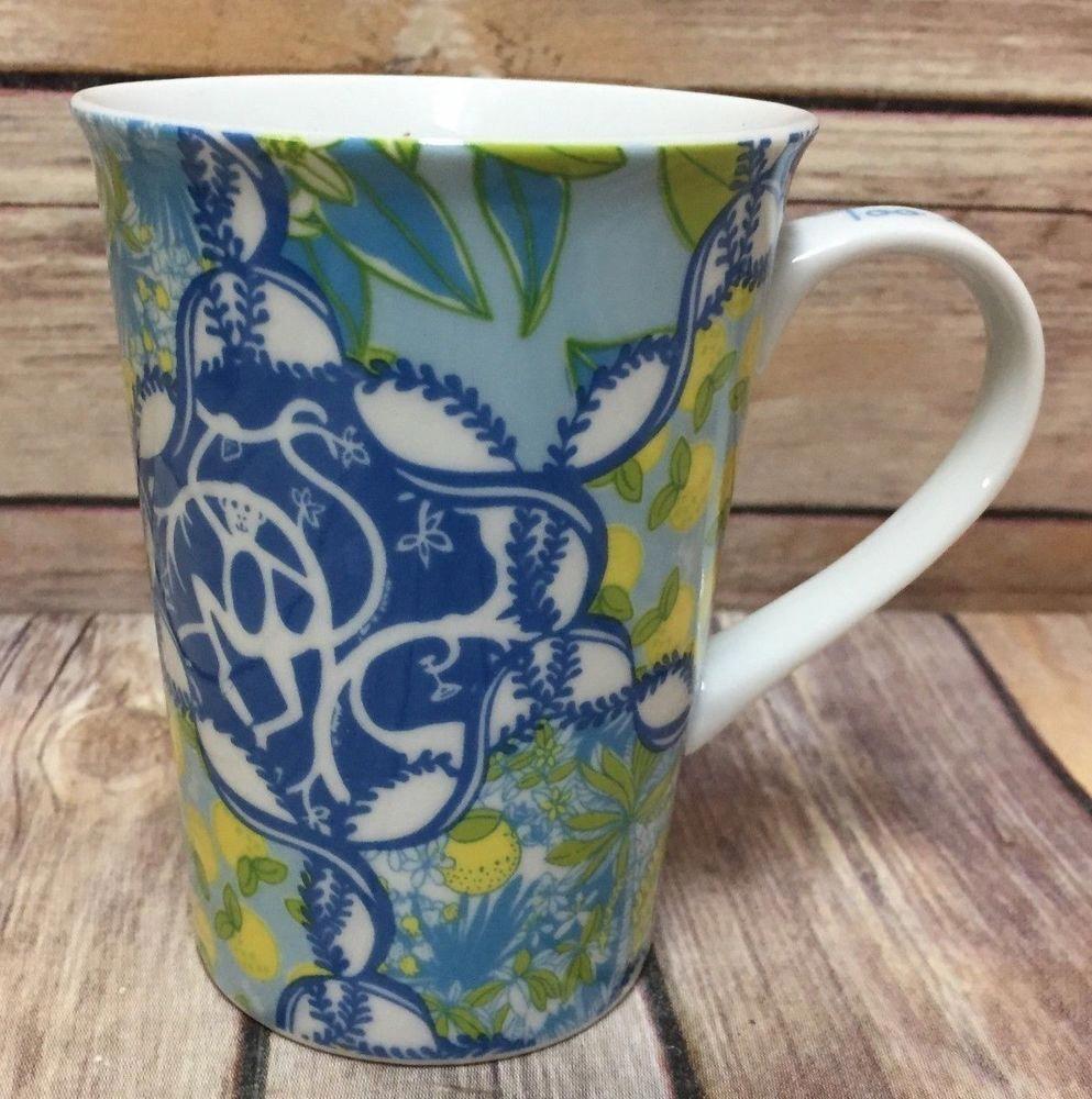 lilly pulitzer coffee mug set of 2