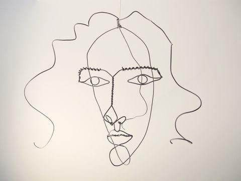 Contour Line Drawing Face : Calder medusa 1930 teach pinterest alexander