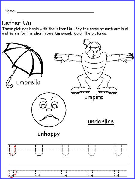 Letter u worksheet kindergarten preschool pinterest worksheets letter u worksheet kindergarten ibookread