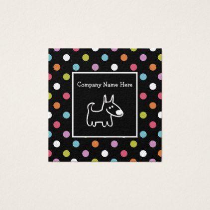 Cute Pet Theme Modern Design Square Business Card Zazzle