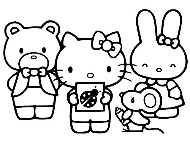 Aneka Gambar Mewarnai Gambar Mewarnai Hello Kitty Hello Kitty Coloring Hello Kitty Colouring Pages Kitty Coloring