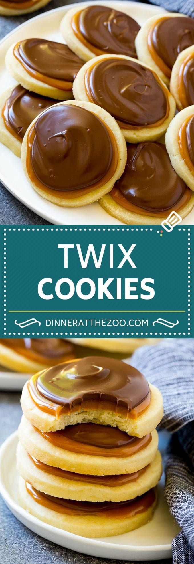Twix Cookies - Dinner at the Zoo