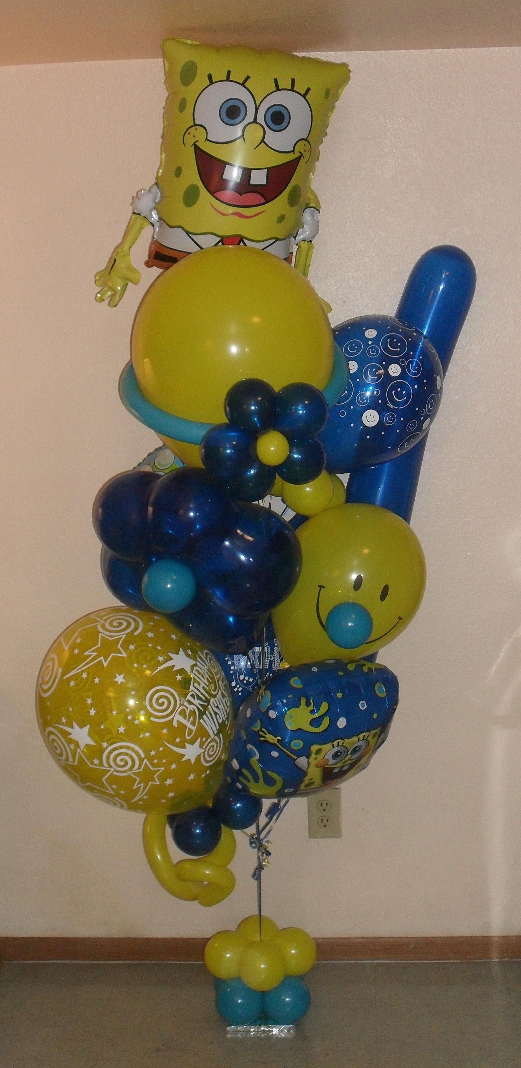 Happy Birthday From Spongebob Small Balloon Bouquet 83