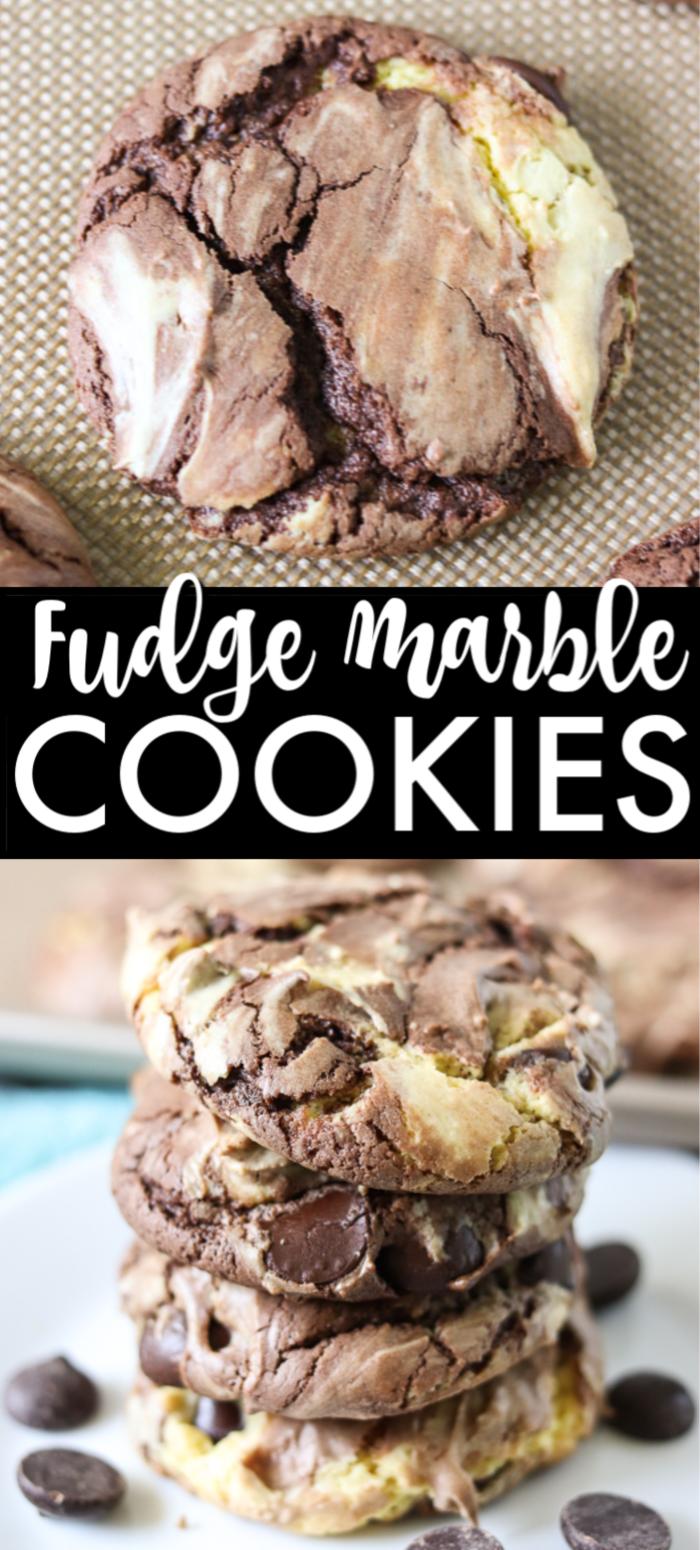 Fudge Marble Cake Mix Cookies Fudge Cookies Cake Mix Cookie Recipes Quick Desserts