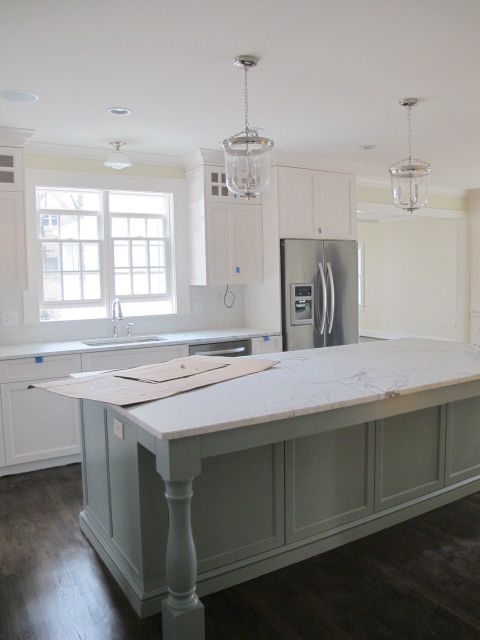 The 25 best kitchen island overhang support ideas on for Granite overhang without support