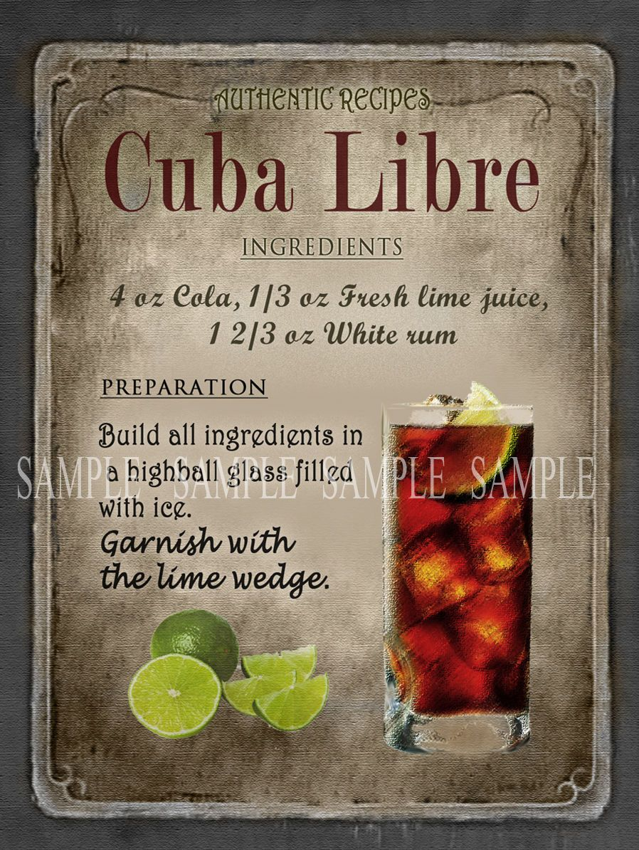 Cuba Libre Cocktail #cubalibre
