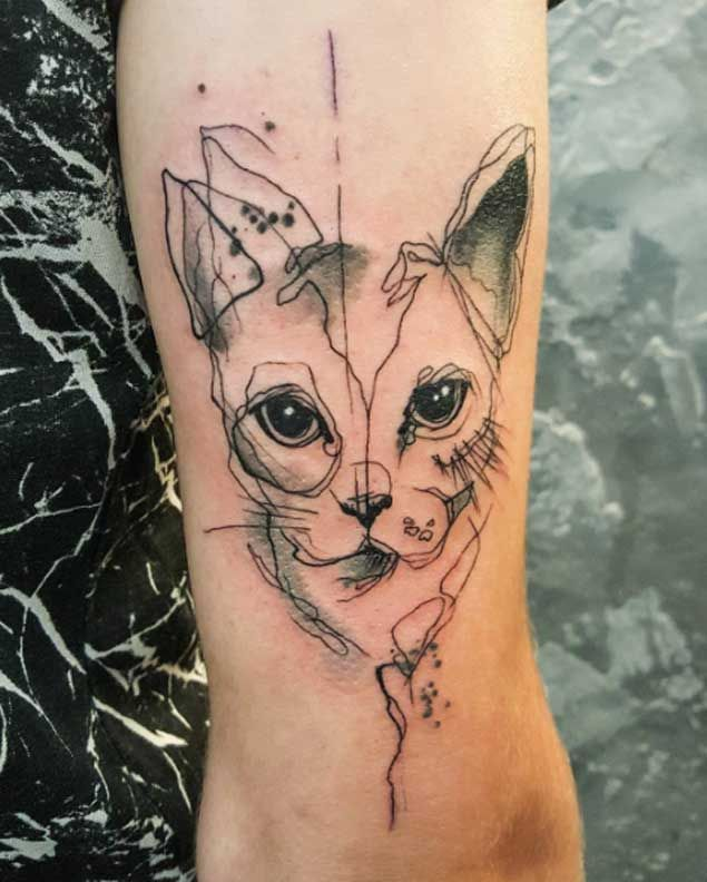 35 Unbelievable Cat Tattoos That Are Guaranteed To Leave You Thoroughly Impressed Katzentattoos Katzen Tattoo Hund Tattoo Ideen