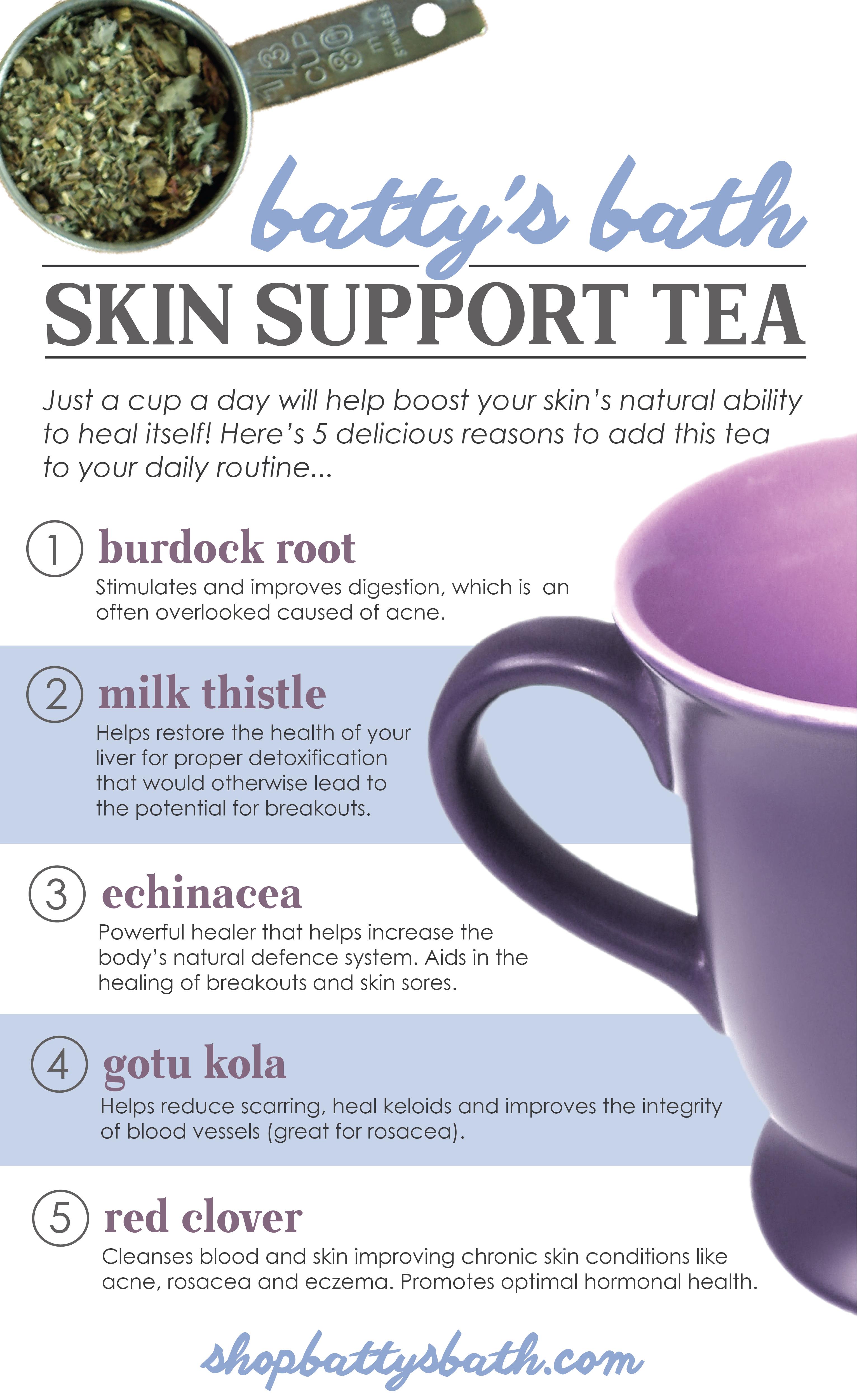 Skin Support Tea Herbal Tea for Clear Skin Natural