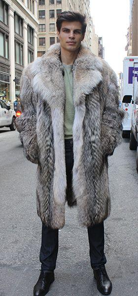 Coyote Fur Coat Fox Fur Winter Outfits Men Winter Clothes Fur Coat Fashion Mens Fur Shearling Coat Fur Collars Fur Jacket