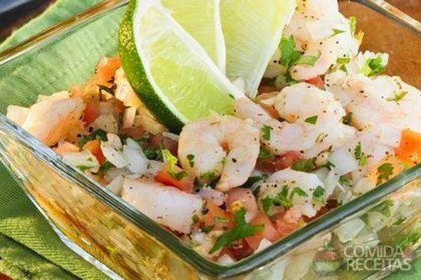 Receita de Camarão ao vinagrete em receitas de crustaceos, veja essa e outras receitas aqui!