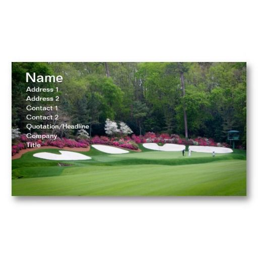 #1 Golf Business Card Golfers Amen Augusta