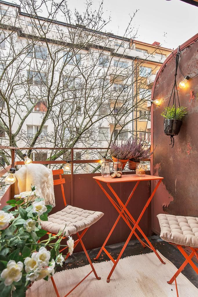 Mysig balkong Jardin Pinterest Balcones, Terrazas y Balcones