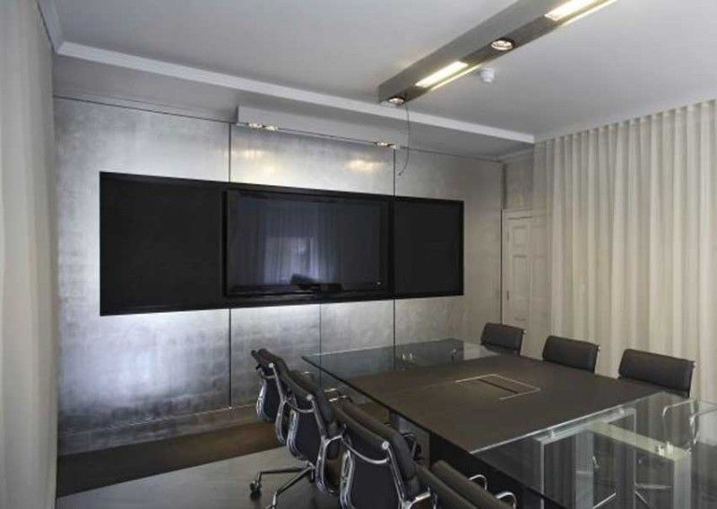 Modern office interior design manchester square meeting for Meeting room interior design ideas