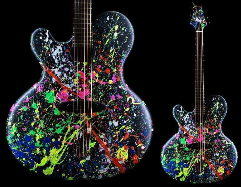 Jens Ritter Paint Splatter Bass Guitar Guitar Finishing Paint Splatter