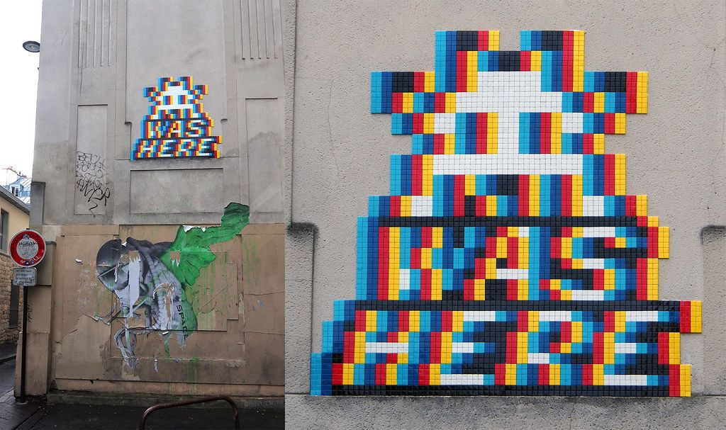 Space Invader Paris 11e Space Invaders Art Pixel Art Street Art Paris