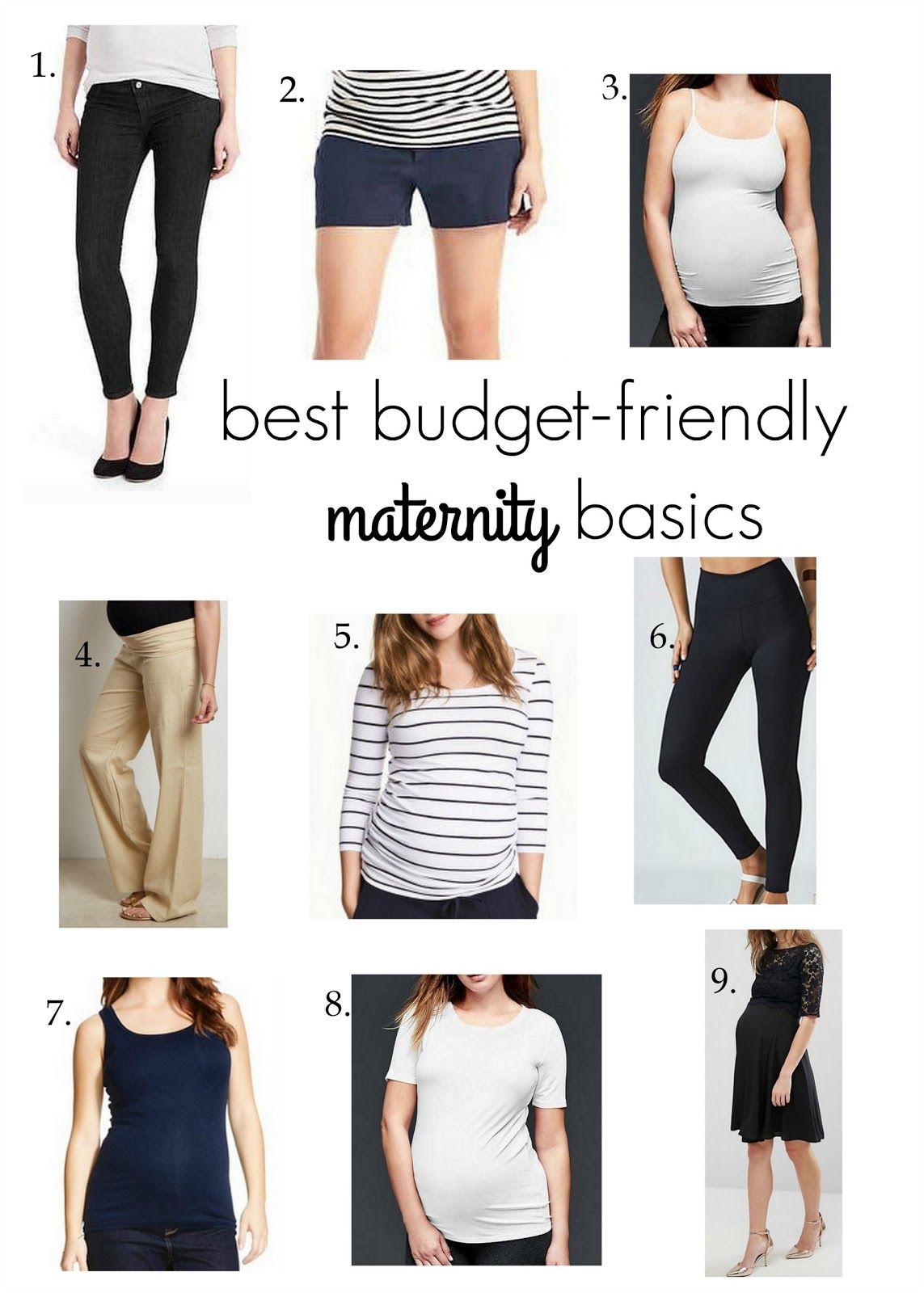 maternity basics: on a budget