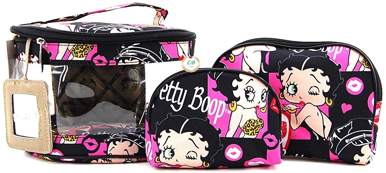 Betty Boop Makeup Bag 3 Pieces Set (Multi