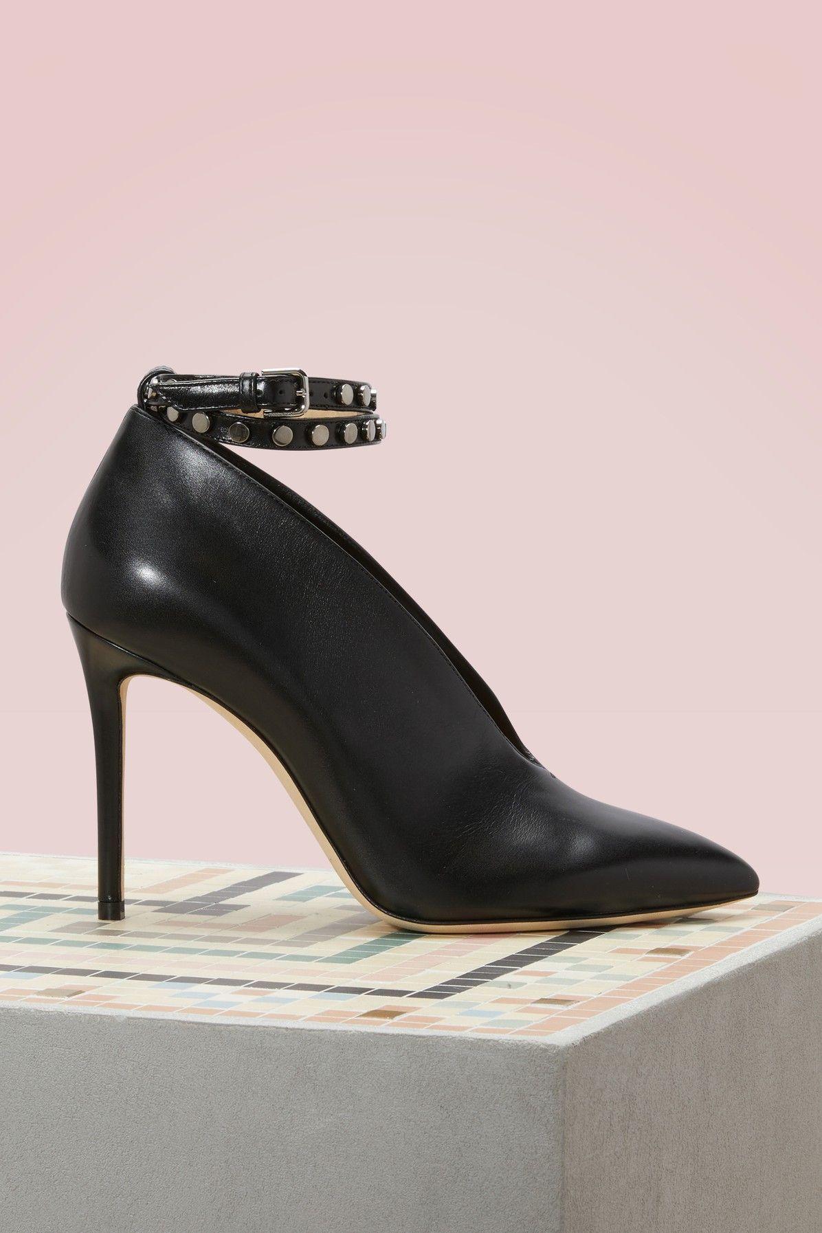 9121fa9deff JIMMY CHOO Lark 100 leather ankle boots.  jimmychoo  shoes