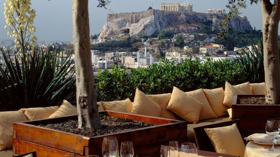 The Acropolis As Seen From Hotel Grande Bretagne Athens