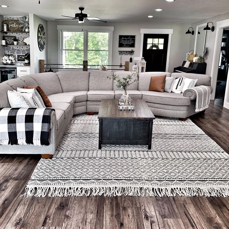 We Can T Take Our Eyes Off Our Farmhouse Tassels Rug It S Becoming Our Favorite Designed By Farm House Living Room Living Room Goals Living Room Sofa Design