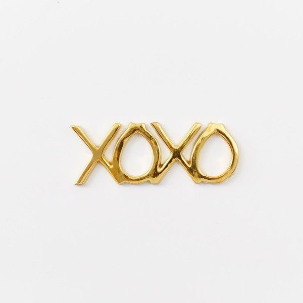 West Elm St. Jude Brass Word Object - XOXO (170 HRK) ❤ liked on Polyvore featuring home y home decor