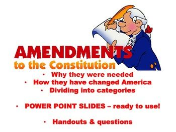 Amendments 11-27 power point slides | History is Alive by