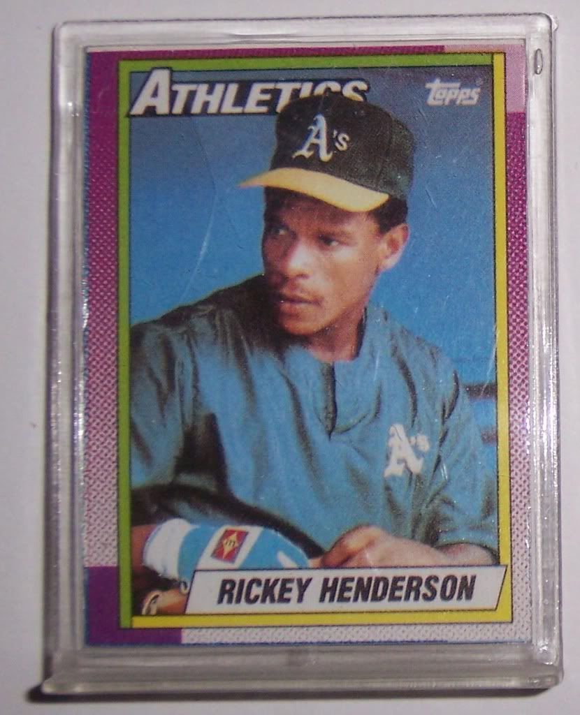 Rickey Henderson Rookie Card 1990 Topps Doubleheaders