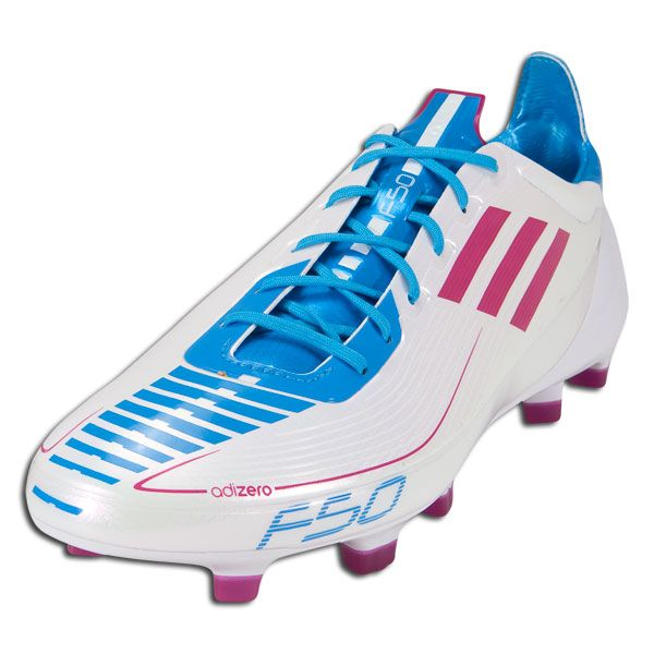 more photos 18359 8d39b adidas F50 adizero TRX Soccer Shoes (Synthetic)  U44293  Lightning White Radiant  Pink Cyan -  99.99 Save  50% OFF