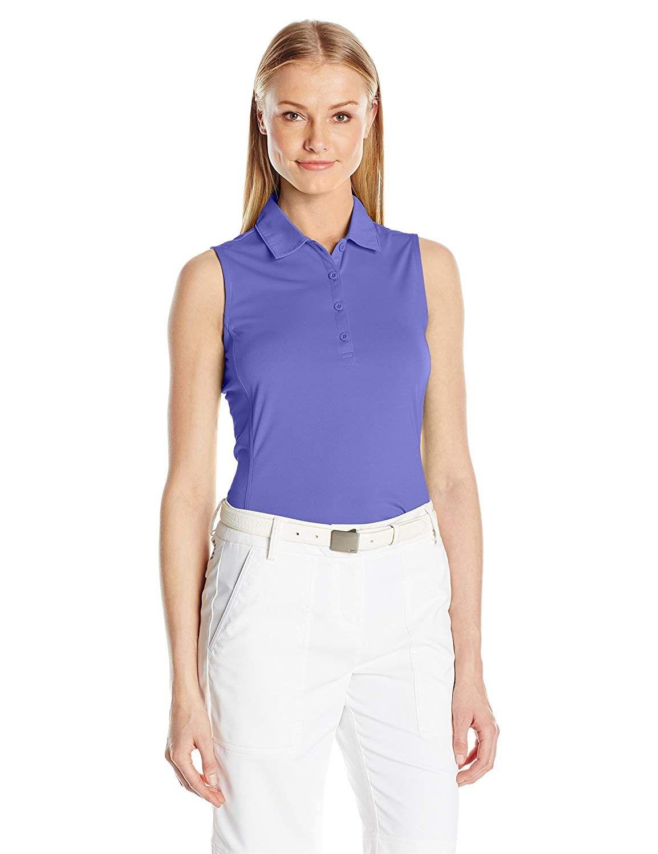 Women's Sleeveless Solid Tech Polo - Grape Juice - CQ12KB8PQL5 - Sports & Fitness Clothing, Women, S...