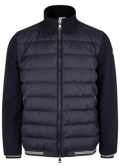 Moncler Navy shell-front cotton sweatshirt – Navy. Moncler Jacket Mens  Cheap, Moncler