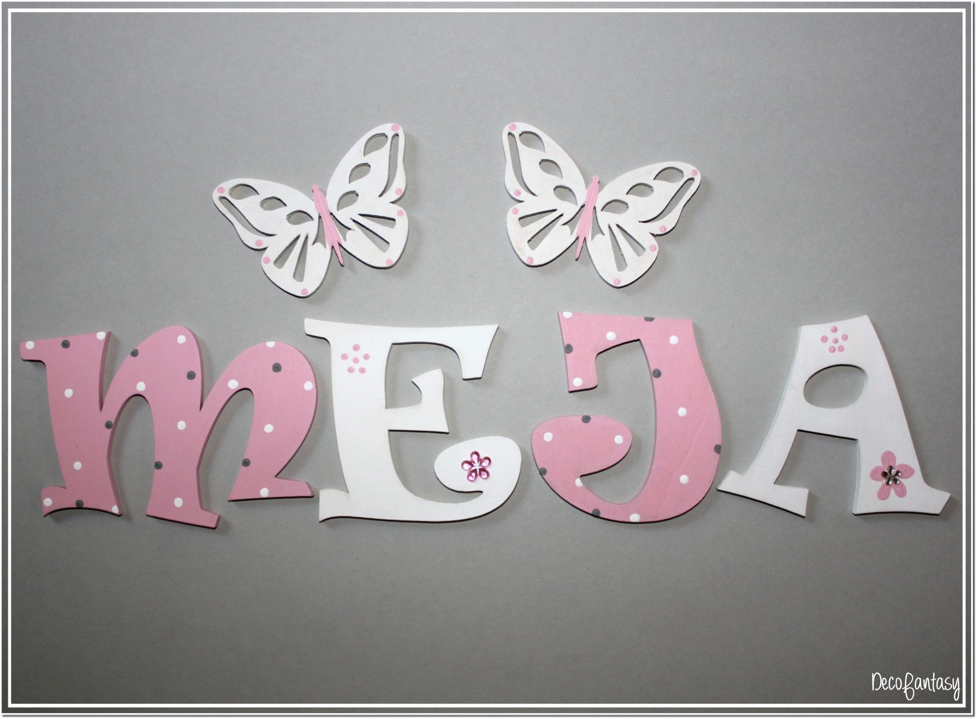 Holzbuchstaben 8 cm Kinderzimmer Holzbuchstaben