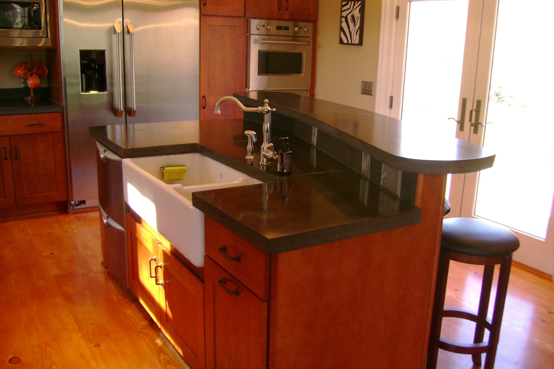 concrete countertop concrete island kitchen black integral color 1 concrete on kitchen decor black countertop id=59316