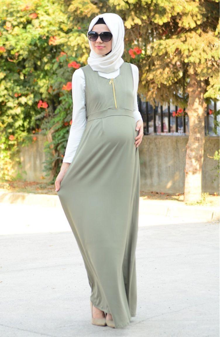 Sefamerve Sik Tesettur Hamile Jile Modelleri Moda Stilleri Elbise Moda