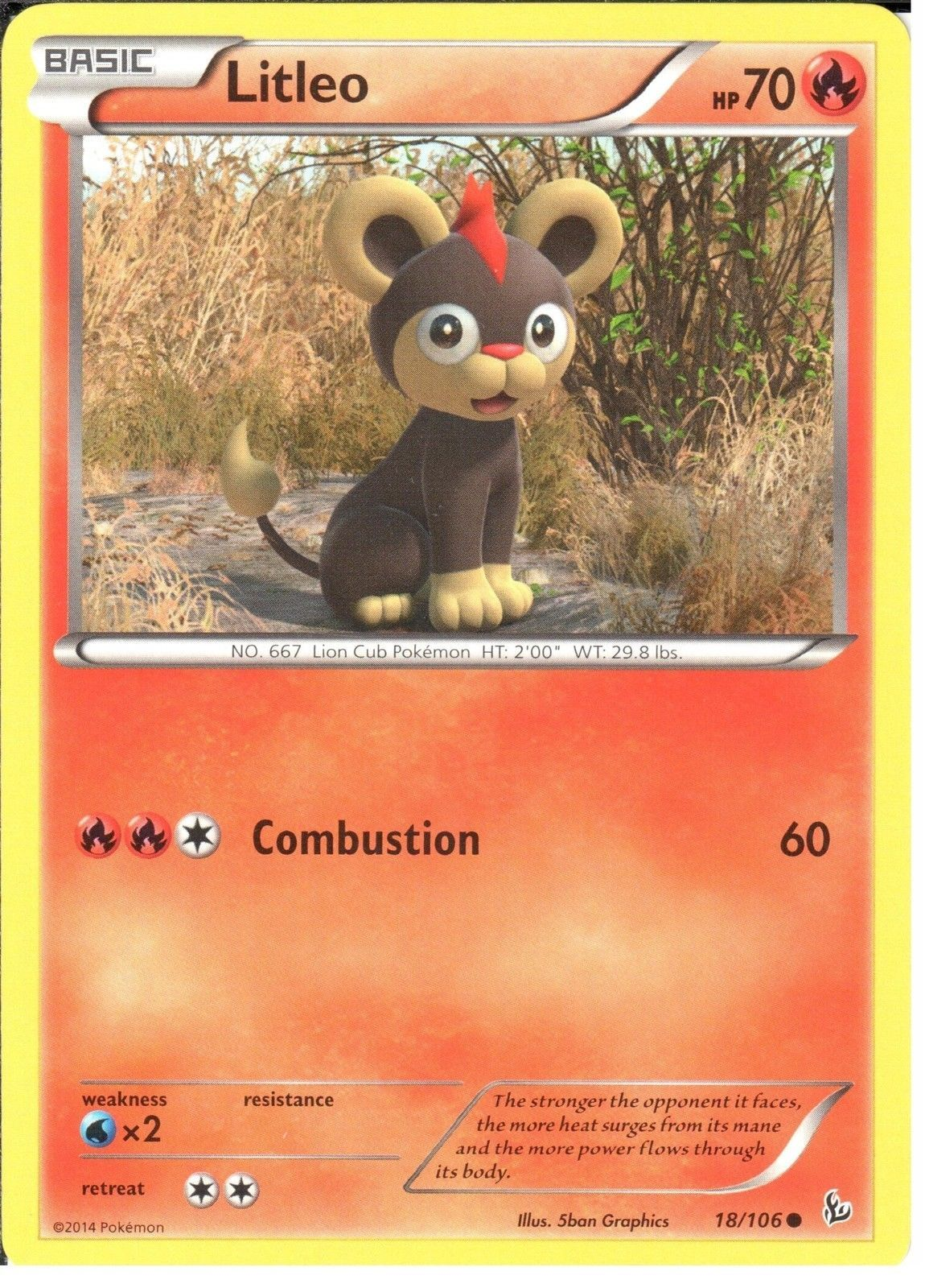 gbp pokemon xy flashfire litleo ebay collectibles