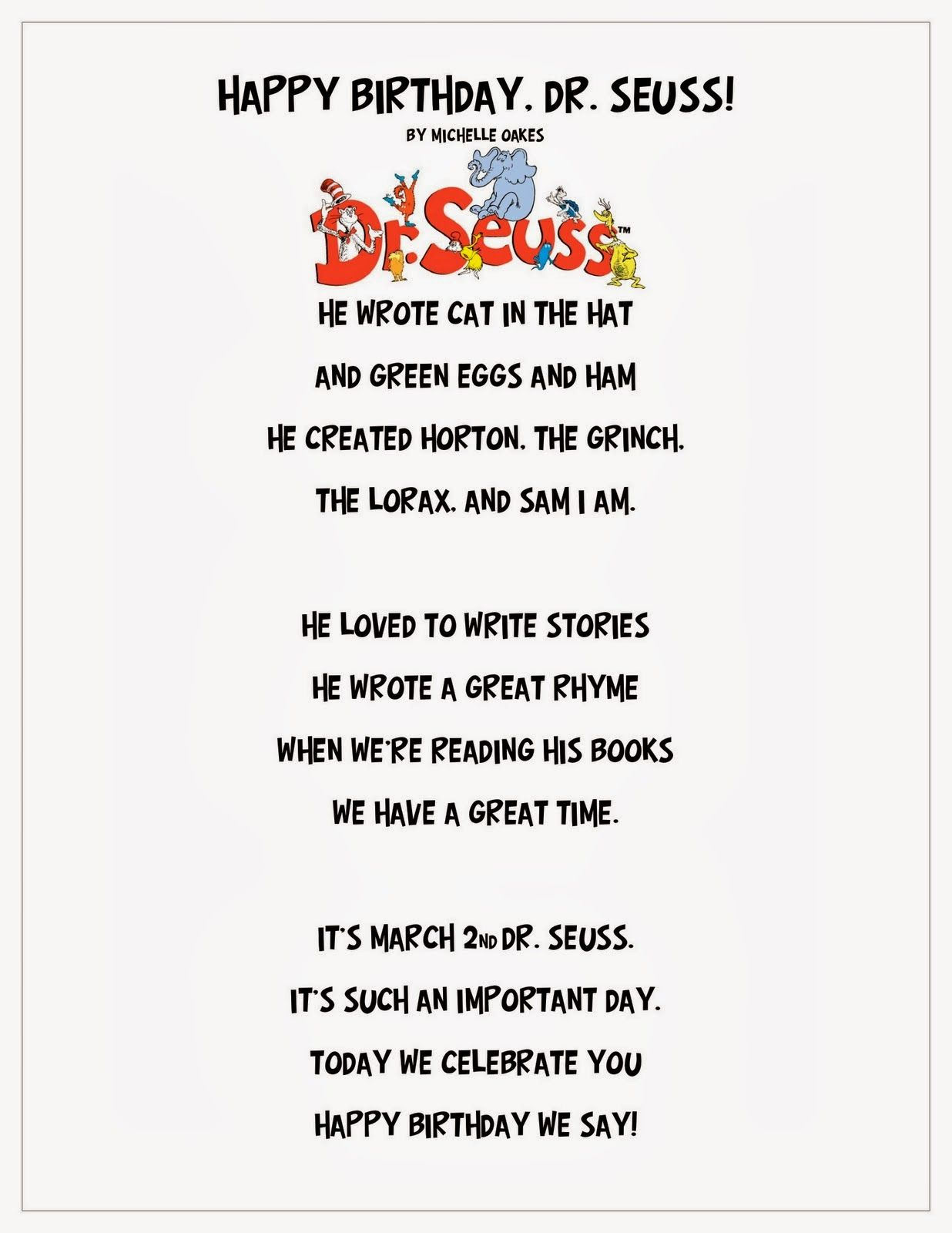 Livin La Vida Loca Happy Birthday Dr Seuss