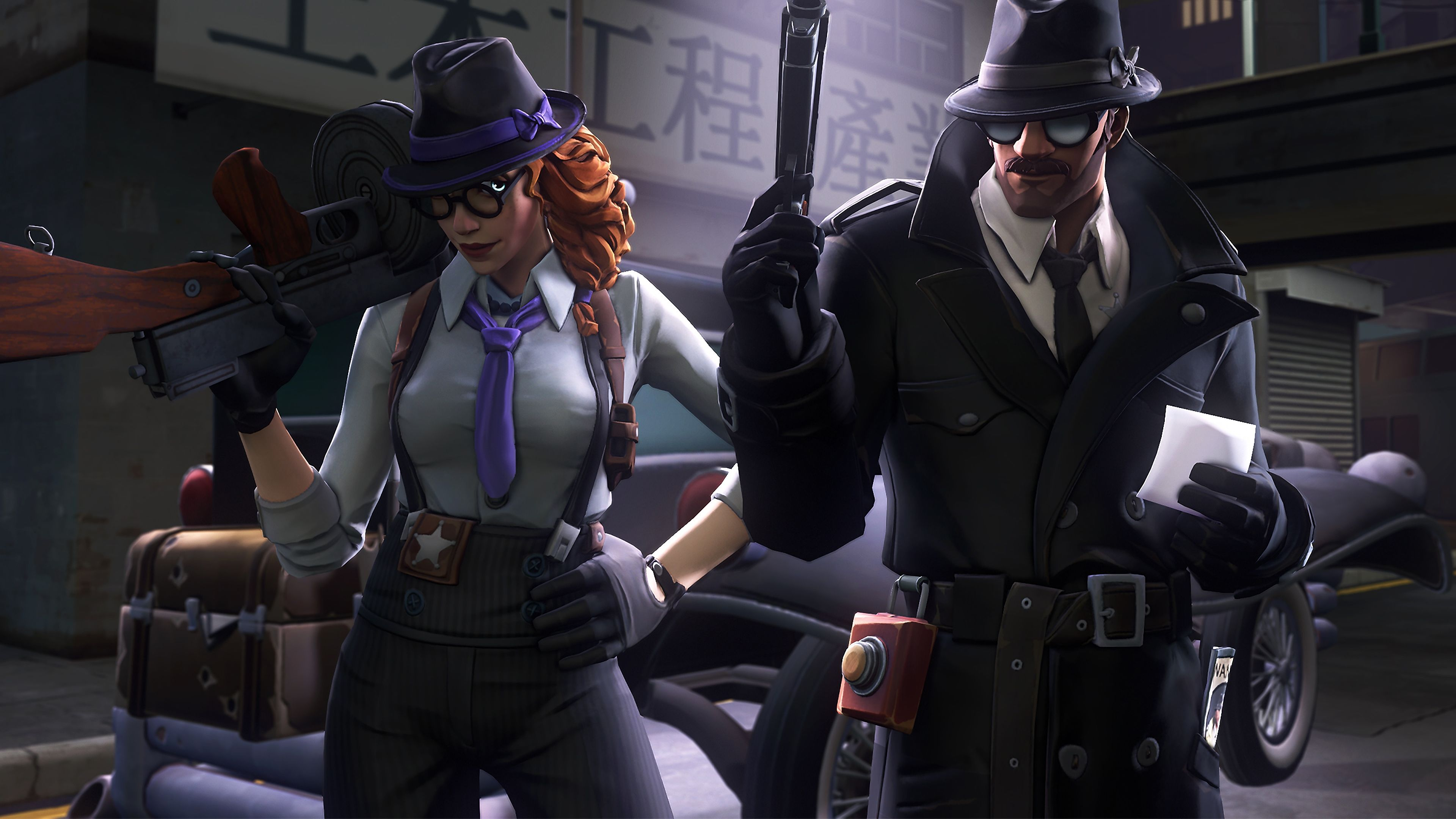 Gumshoe And Noir Fortnite Battle Royale Hd Wallpaper Fortnite Best Gaming Wallpapers