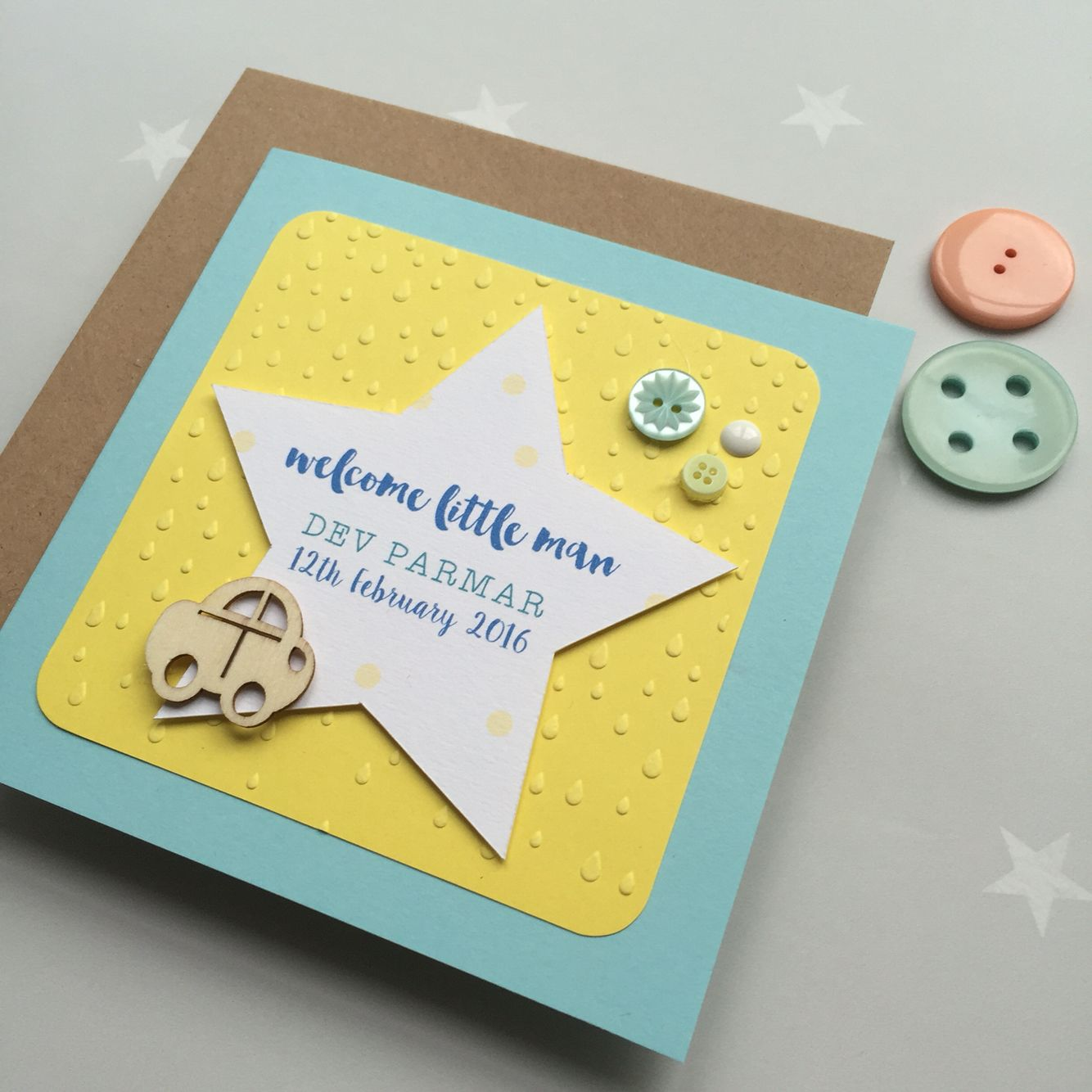 We've had lots of new additions to our family and we loved meeting our newest nephew too, handmade little man card 🍼🍼