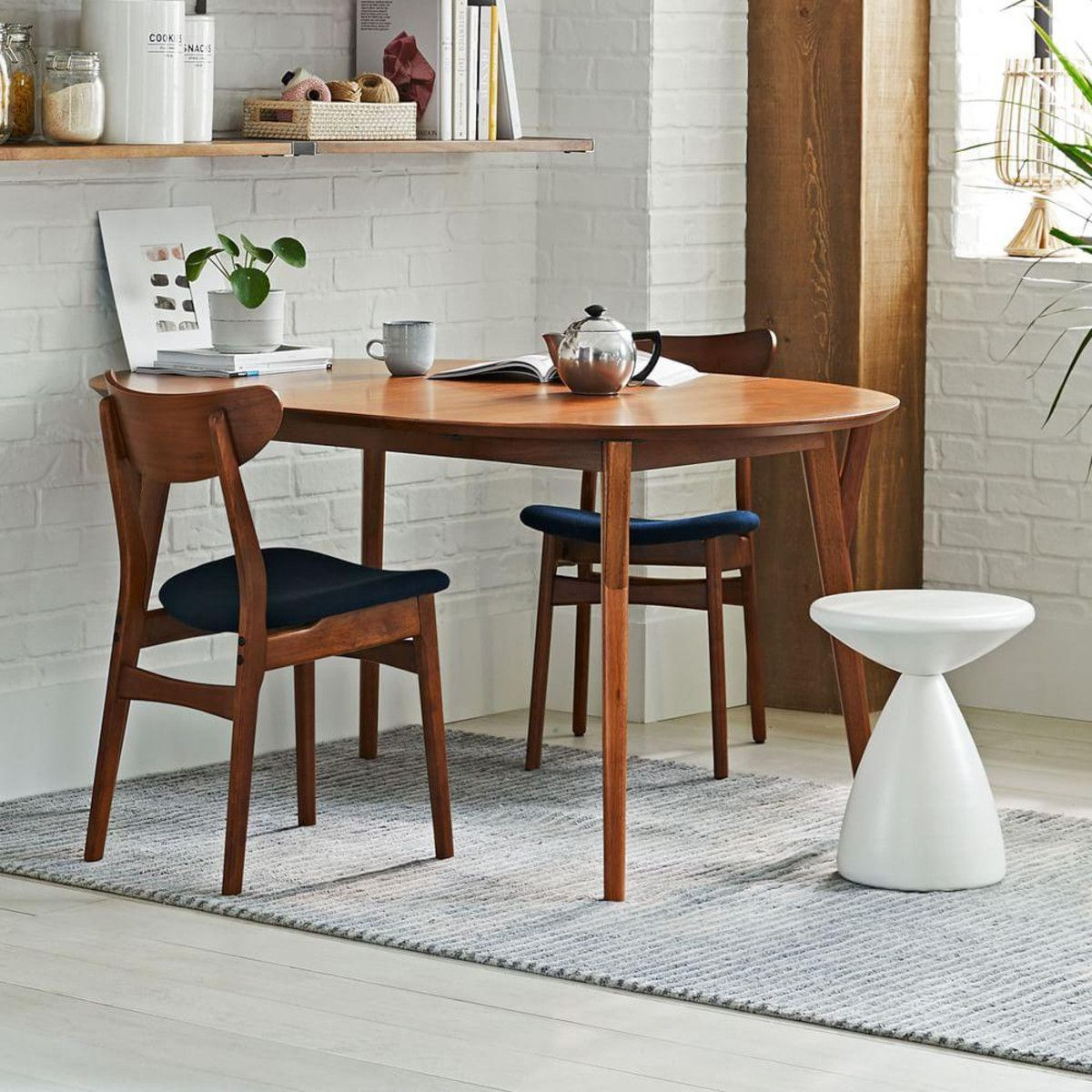 Mid Century Expandable Dining Table Round In 2020 Expandable