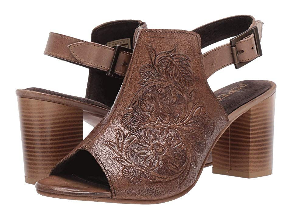 Roper Mika Women's Shoes Beige Floral Tooled Leather in 2020