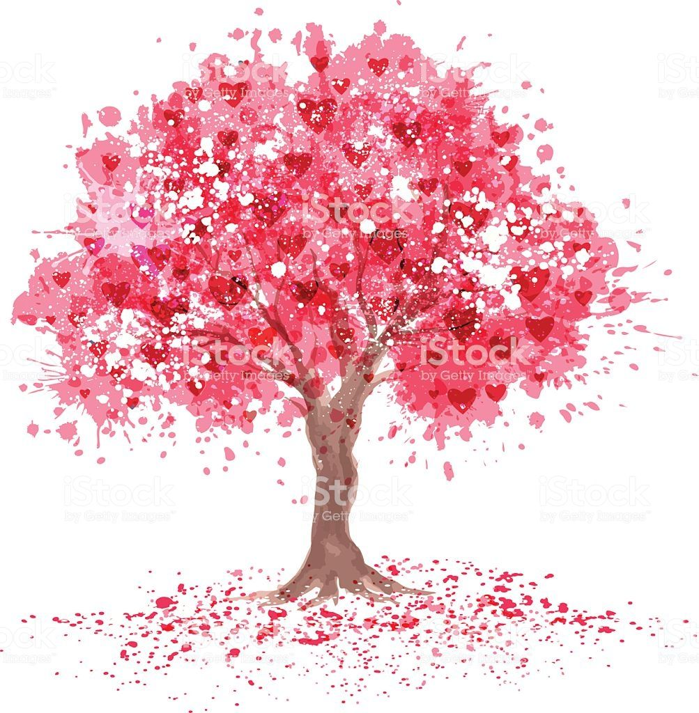 Pin By Trevor On Design Tree Watercolor Painting Cherry Blossom Art Tree Art