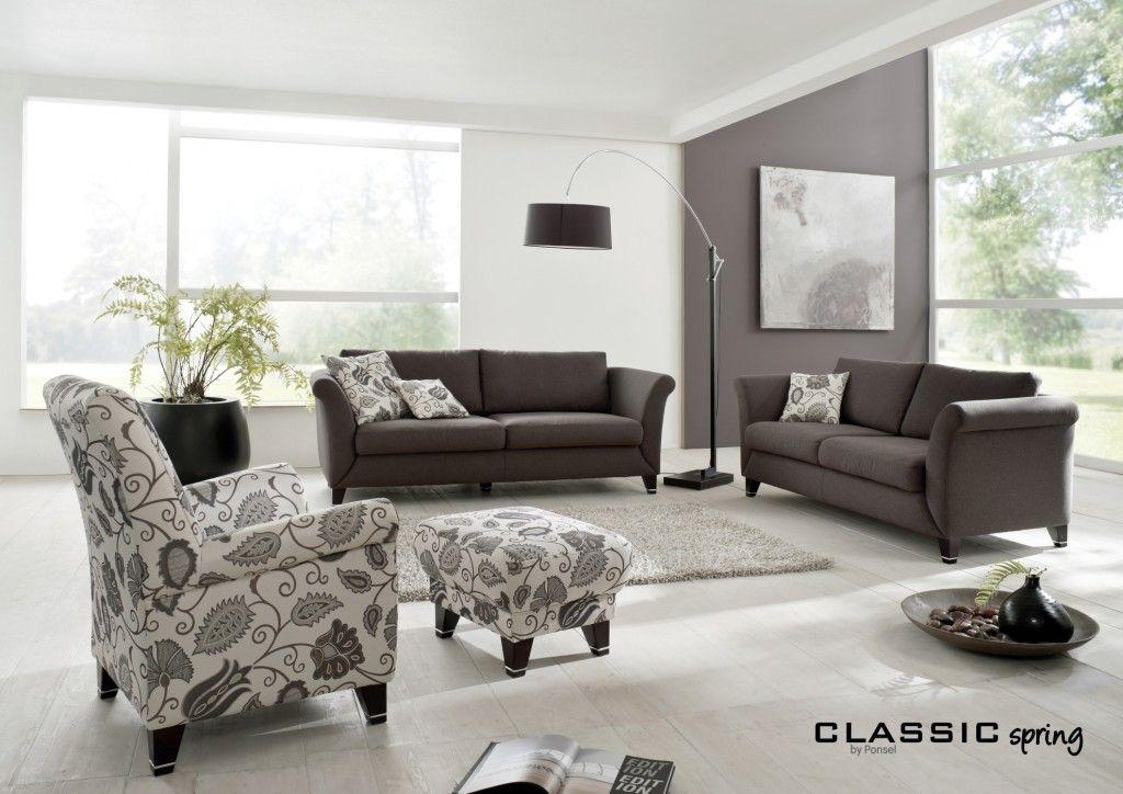 Wohnzimmer #Wohnen #Poltergarnitur #Sofa #Sessel #anthrazit #weiß ...