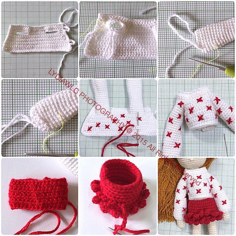 crochet | mini vestiti | Pinterest | Muñecas, Ganchillo y Patrones ...