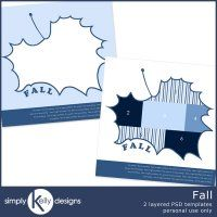 Fall PSD Template Set by Simply Kelly Designs @ Digitals.