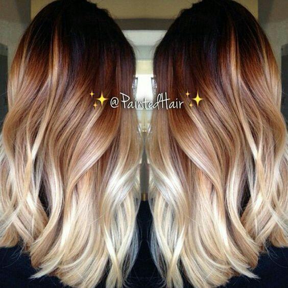Coloration cheveux du brun au blond